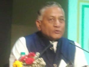Gen V K Singh (Retd) , now serving as State Minister of Foreign Ministry Govt of India.